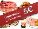 Gutschein im Wert von 5 Euro
