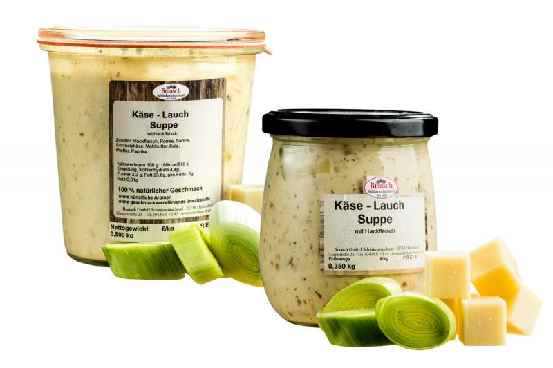 Hausgemachte Käse-Lauch-Suppe