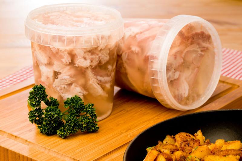 Sauerfleisch im Becher