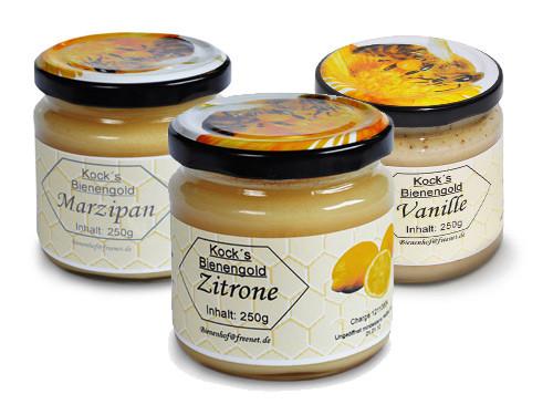 Honig Sondersorten (z.B. Marzipanhonig)