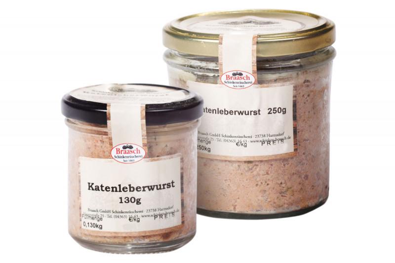 Hausgemachte Katenleberwurst im Glas
